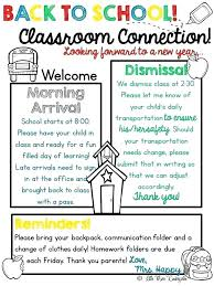 School Letters Templates Back To School Letter Template