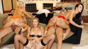 Three horny girls take