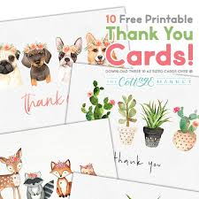 Printable Thank You Cards 10 Free Printable Thank You Cards You Cant Miss The