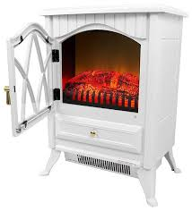 white 400 square foot electric space heater fireplace contemporary freestanding stoves by yourgardenstop
