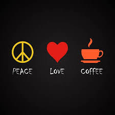 Peace And Love Coffee Coffee Quotes Template Royalty Free Cliparts Simple Coffee Quotes