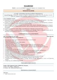 Web Developer Resume Sample Web Developer Sample Resumes Download Resume Format Templates 47