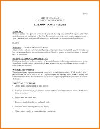 resume groundskeeper maintenance sidemcicek com