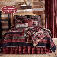 Cumberland Rustic Red Plaid Quilt Bedding by Oak & Asher &  Adamdwight.com