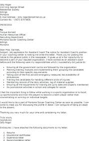 How To Write A Cover Letter For A Coaching Job Life Coach Cover Letter Sample Sample Coaching Cover Letter Coach