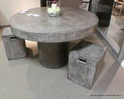 48 round dining table solid concrete