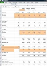 Bed And Breakfast Business Plan Revenue Projection Plan