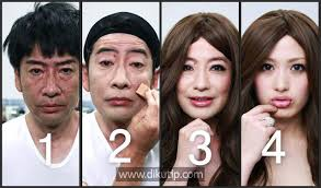 news chinese old man transform into a beautiful with make up