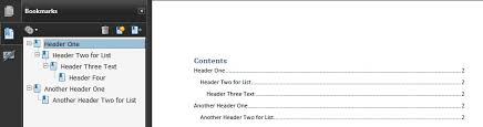 Example Word Documents Pdf2 Creating Bookmarks In Pdf Documents