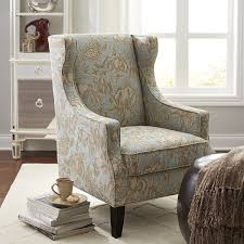 Wing Chairs For Living Room Blue Floral Wing Chair Chairs Wings And Pier 1 Imports