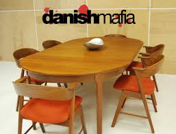 mid century danish modern oval henning kjærnulf teak table