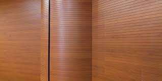 acoustic wooden wall panel