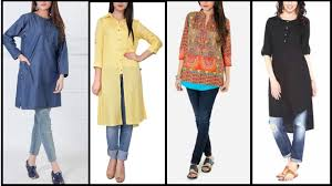 Kurta Designs To Wear With Jeans Top Latest 2017 Stylish Trendy Kurtis Designs Long Shirts With Jeans Long Kurtis For Daily Wear