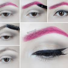 how to colorful eyebrows makeup tutorial