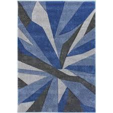 modern shatter splinter design hand carved soft blue grey rug home carpet in 80x150 cm 2 6 x5 0