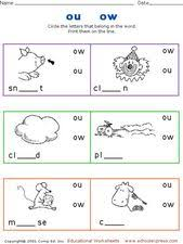 Covering, letters of the alphabet. Ou Ow Sound Lesson Plans Worksheets Reviewed By Teachers