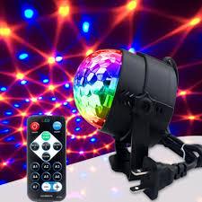 Đèn led xoay 7 màu pha lê trang trí sân khấu cảm biến theo nhạc- Hàng nhập  khẩu