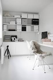 white office bookcase. More Nice Ideas In This Office Space, But A Little Too White For The Kids\u0027 Office. Bookcase