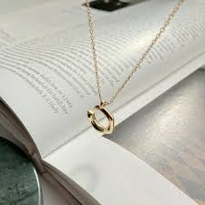 2019 louleur 925 sterling silver c letter pendant necklace gold fashion design personality necklace for women 2018 fine jewelry from fenkbao