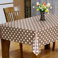 taupe spot vinyl tablecloth