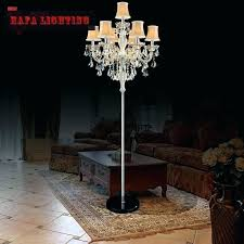 chandelier standing lamp popular floor lamps with regard to crystal ciara dd antique white