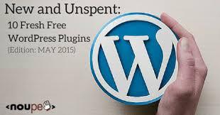 10 Fresh Free WordPress Plugins (Edition: May 2015) | NOUPE