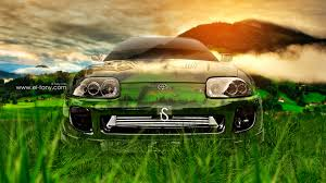 toyota supra jdm front crystal nature car
