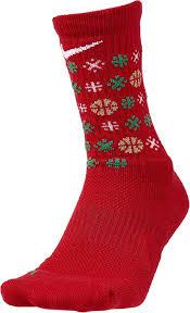 Nike Elite Socks With Designs Amazon Com Nike Elite Holiday Basketball Crew Socks M Red