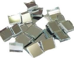 acrylic mosaic silver mirror square 100 pieces 10 x 10 x