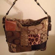 Coach patchwork shoulder bag Authentic medium-sized Coach handbag ...