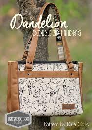 Blue Calla Patterns Adorable The Dandelion Double Zip Handbag PDF Sewing Pattern Blue Calla