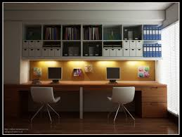 double office desk. modern home office design for two persons come with natural solid wood desk and built double h
