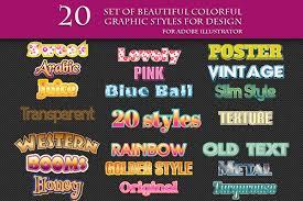 200 Graphic Styles For Adobe Illustrator On Behance