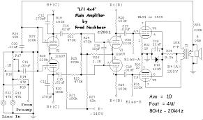 li l x tube amplifier how it works li l 4x4 main amplifier circuit