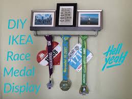 diy ikea race medal display