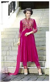 Pink Velvet Suit Design Magenta Velvet Pakistani Style Suit 61461 Online Dress