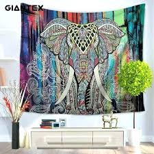 rug wall hanging wall rug art elephant pattern home tapestry wall hanging colorful printed decorative rug rug wall hanging