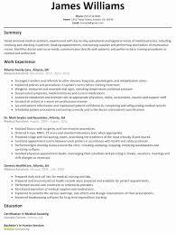 Luxury Fresh Job Resume Example Cna Resume Objective Emsturs Com