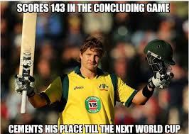 lets hav a deep discussion: Shane Watson Meme: Scores 143 Cements ... via Relatably.com