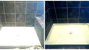 shower resurface pan tile fiberglass tub base resurfacing cost refinish