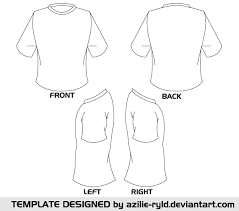Tee Shirts Templates Blank Tshirt Template Vector Front And Back Education Shirt
