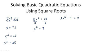 use square roots to solve quadratic equations algebra ck 12 foundation