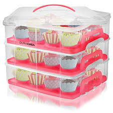 36 Cupcake Carrier Simple Amazon DuraCasa Cupcake Carrier Cupcake Holder Store Up To