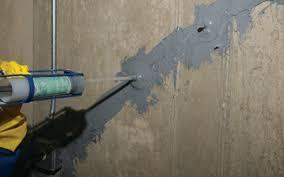 wall crack repair. Perfect Repair Interior Basement Wall Crack Repair With O