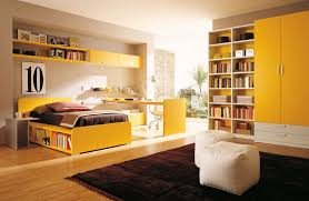 Bedroom:Cool Color Paint Schemes For Boys Bedroom Design With Dark Brown  Rug And Yeloow