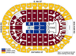 Cleveland Cavs Seating Chart Kiss Rocket Mortgage Fieldhouse