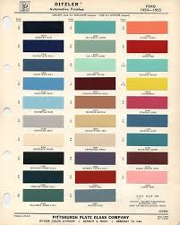 Vw Spring Color Chart 1954 And 1955 Ford Colors Paint Color Codes Car Paint