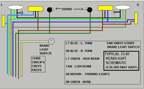 headlight and tail light wiring schematic diagram typical 1973 headlight wiring diagram schematic