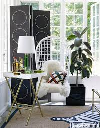 gallery small home office white. Chic And Cheeky Fashion Designer Sunroom Home Office Decorating Playful  White Rattan Swing Chair Black Foldable Gallery Small Home Office White E