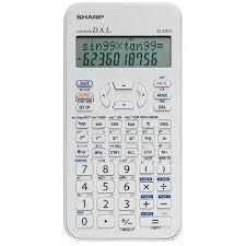 sharp calculator. el-531xbdw scientific calculator with 2 line display sharp
